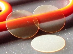 AAO Wafers demonstrating optical clarity and waveguide behavior