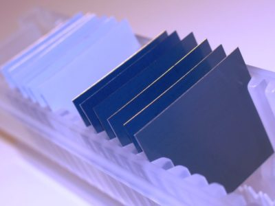 25 mm x 25 mm AAO nanotemplates with ALD coatings