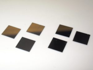 Array of Si nanowires of different length on 10 mm x 10 mm Si substrates