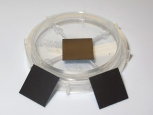 Array of Si nanowires of different length on 10 mm x 10 mm Si substrate