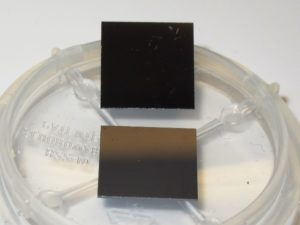 Array of 0.5 um and 3 um long Si nanowires on 10 mm x 10 mm Si substrates
