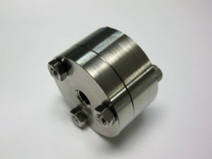 Stainless steel membrane holder for 25 mm AAO membranes